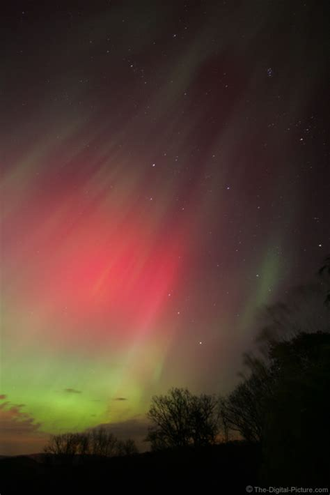 Red and Green Northern Lights Picture