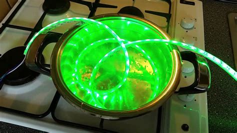 SOH LED Strip RGB IP68 Boiling Water test - YouTube