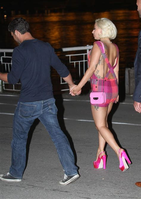 Lady Gaga - Visited Her Fiance Actor Taylor Kinney in