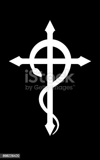 Crux Serpentines Mystical Sign And Occult Symbol Of Black